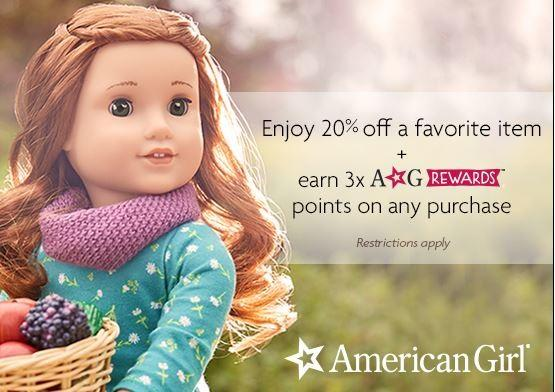 Receive 20% Off A Single Item & 3x The Rewards Points! from American Girl