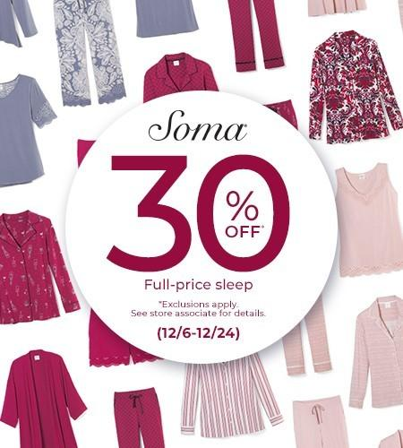 Save 30% from Soma Intimates