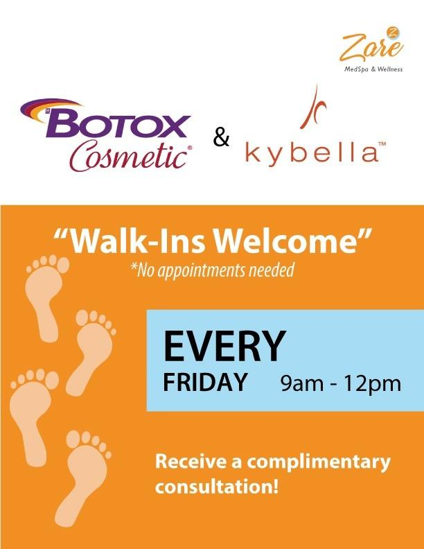 BOTOX WALK-IN CLINIC from Zare Medspa And Wellness