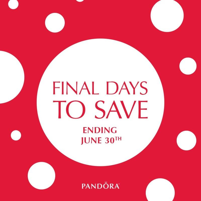 Final Days to Save from PANDORA