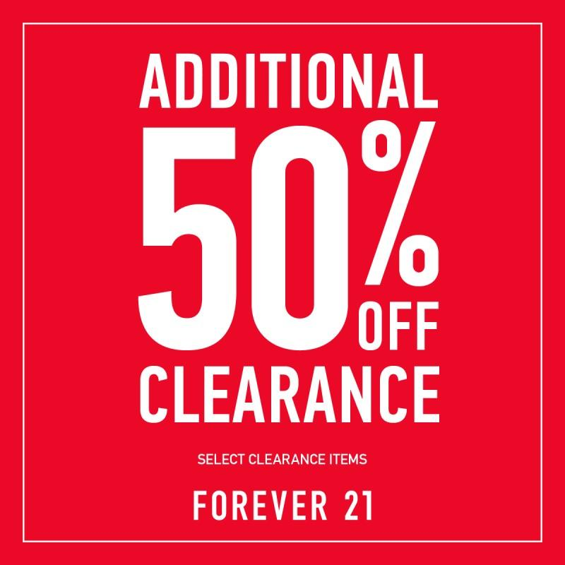 ADDITIONAL 50% OFF from Forever 21