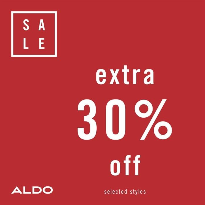 Extra 30% Off Sale Styles from ALDO Shoes