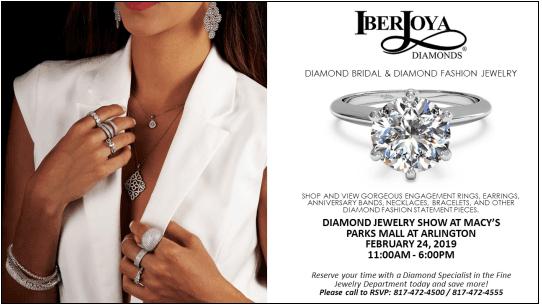 Iberjoya Diamond Jewelry Show At Macy S The Parks Mall At Arlington