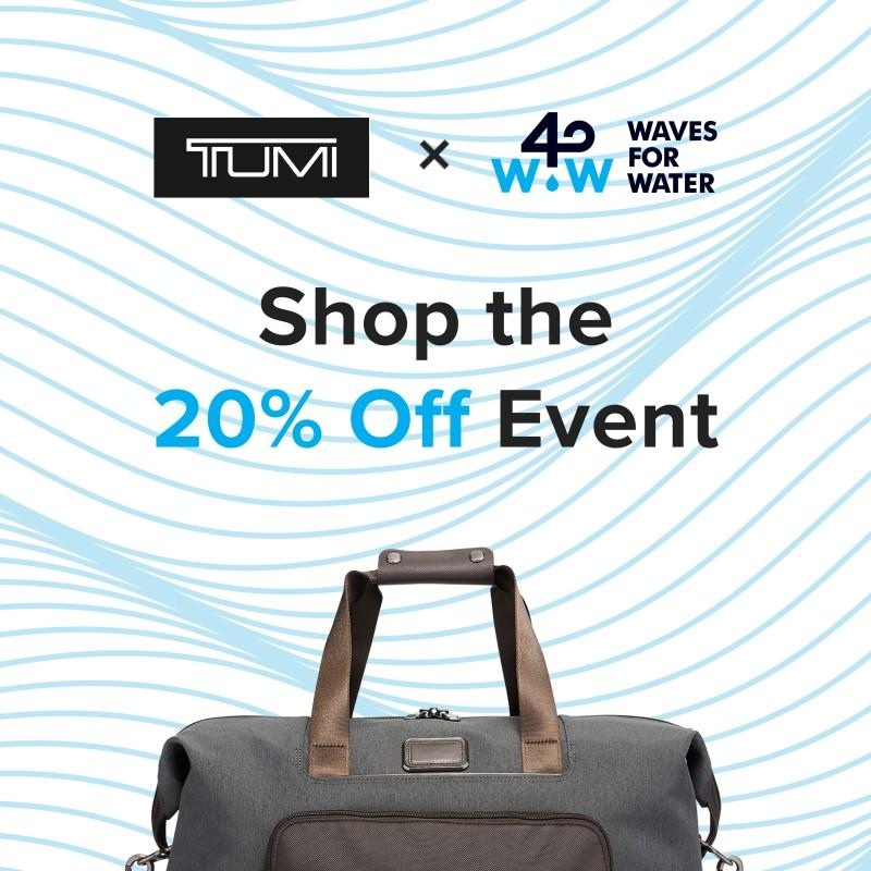 TUMI X Waves for Water from TUMI