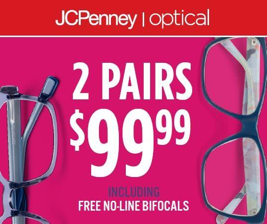 Two for $99.99 Sale - JCP Optical from JCPenney