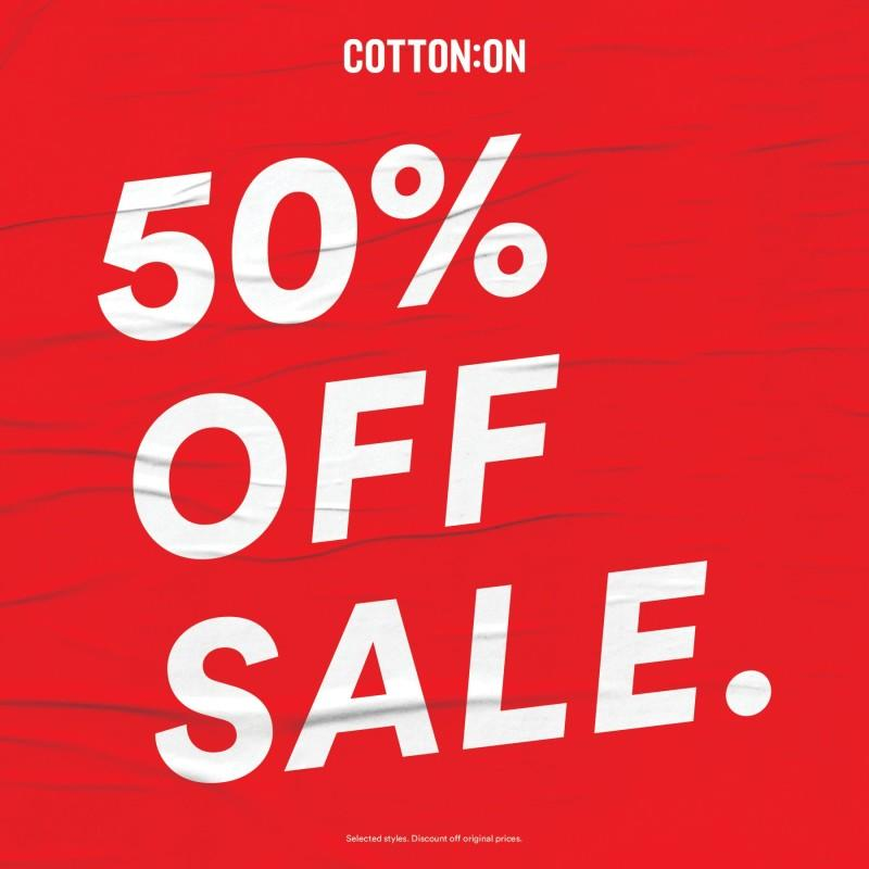 Save 50% from Cotton On