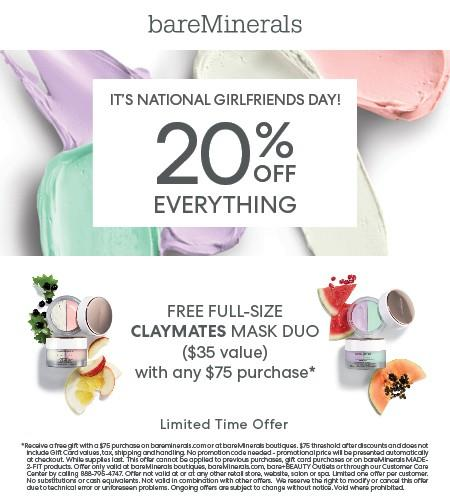 20% Off Everything from bareMinerals