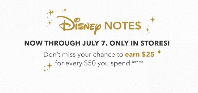 Earn $25 for Every $50 from Disney Store