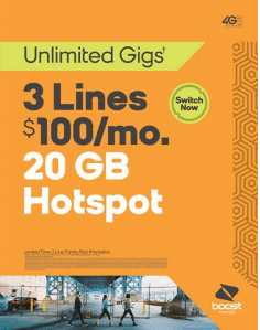 Unlimited Gigs from Boost Mobile