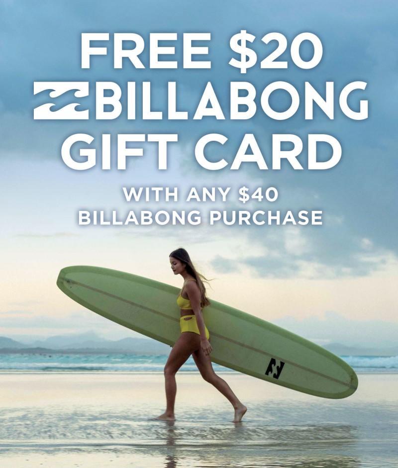 FREE $20 Billabong Gift Card from Hawaiian Island Creations