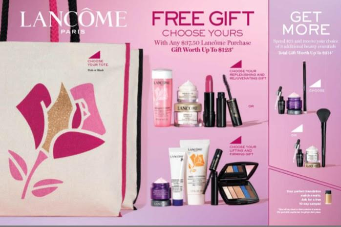 Free Gift with Lancome Purchase from macy's