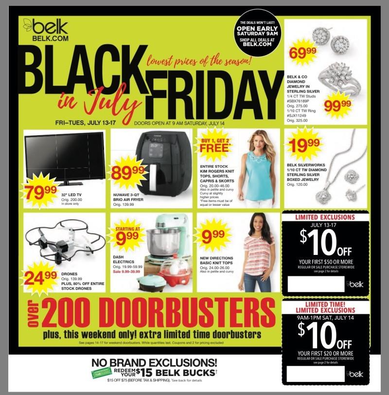 Black Friday in July from Belk