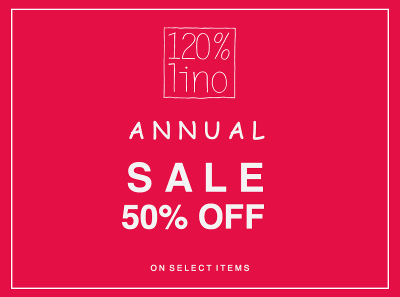 Annual Sale from 120% Lino