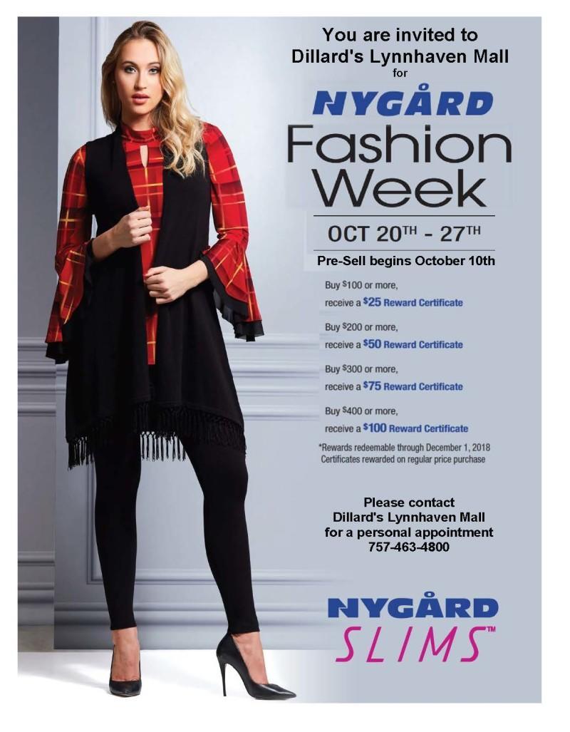 Nygard Fashion Week at Dillards