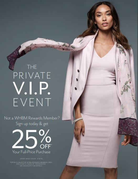V.I.P. Savings Event from White House Black Market