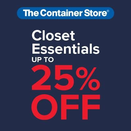 25% Closet Essentials Sale from The Container Store
