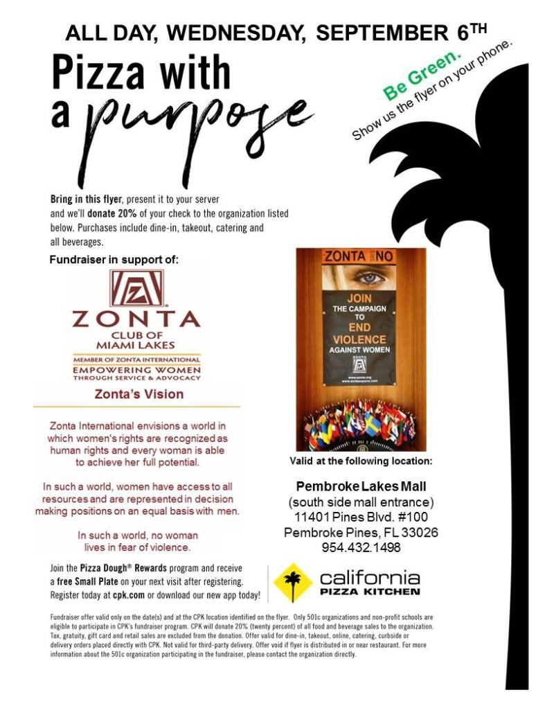 Event at California Pizza Kitchen