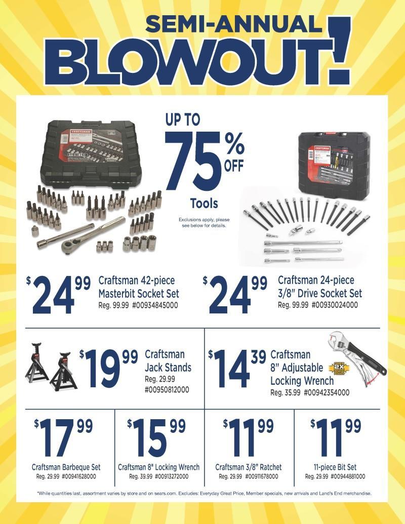 Sears Semi-Annual Tool Blowout!