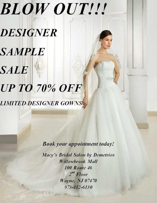 Designer Dress Sample Blow Out Sale