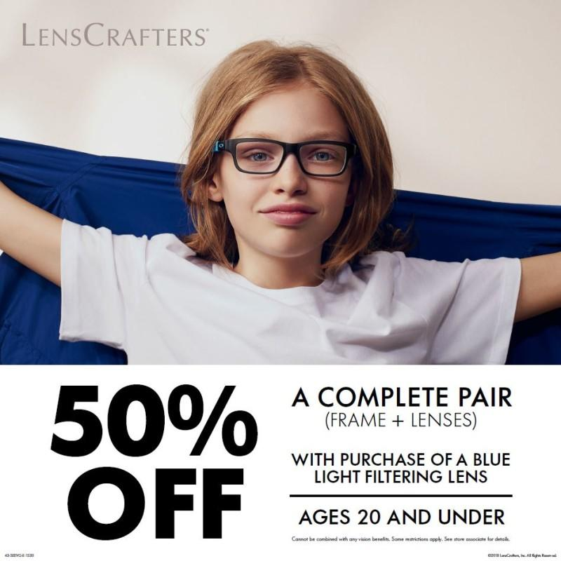 Back to School Sale from LensCrafters