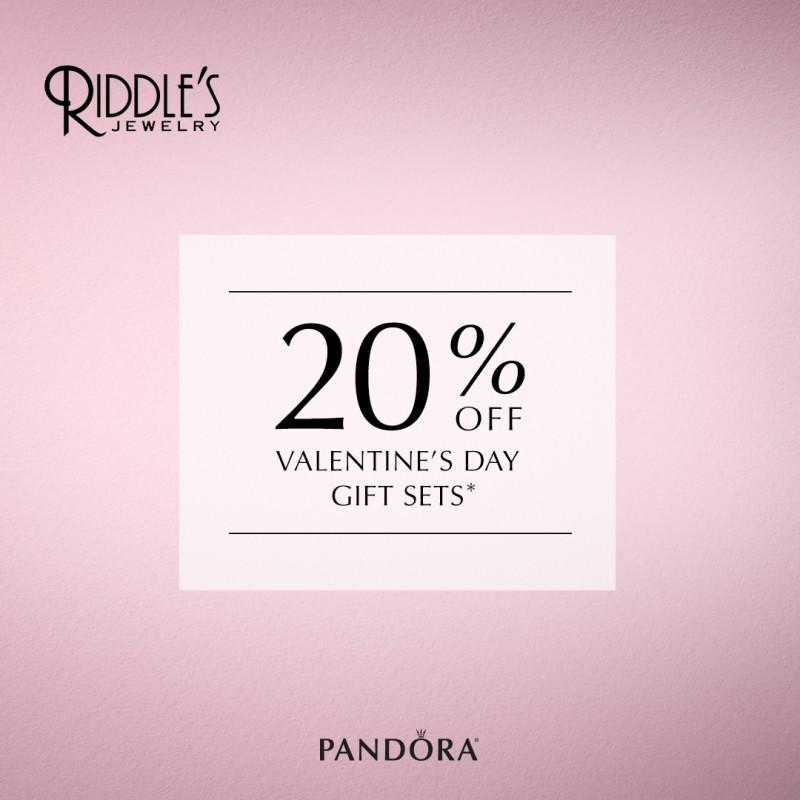 Pandora Gift Sets 20% Off from Riddle's Jewelry