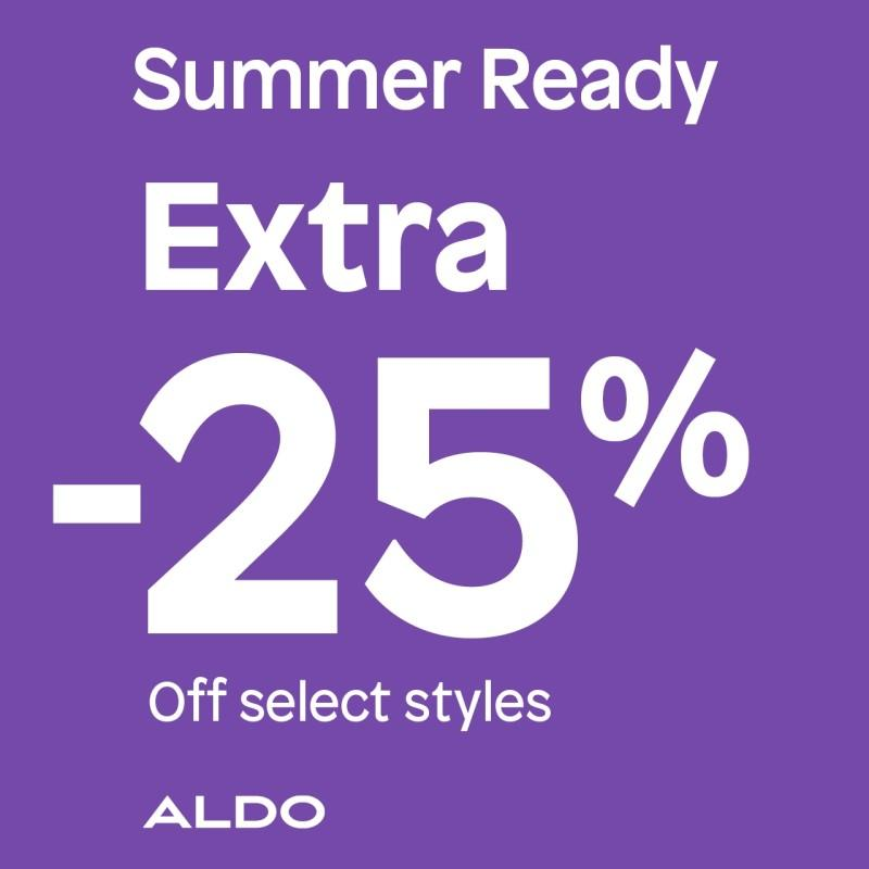 Extra 25% off Select Styles from ALDO Shoes