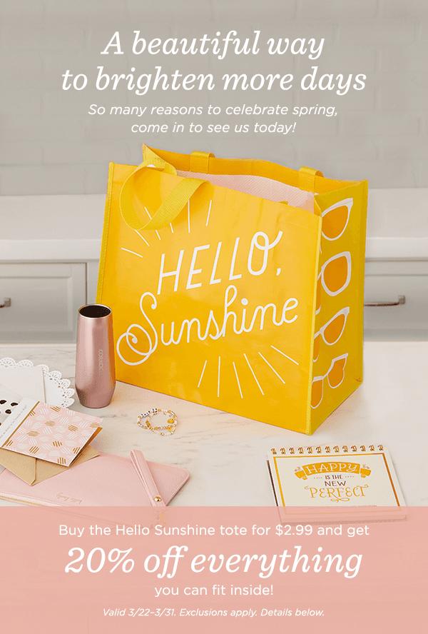 Hello Sunshine tote!