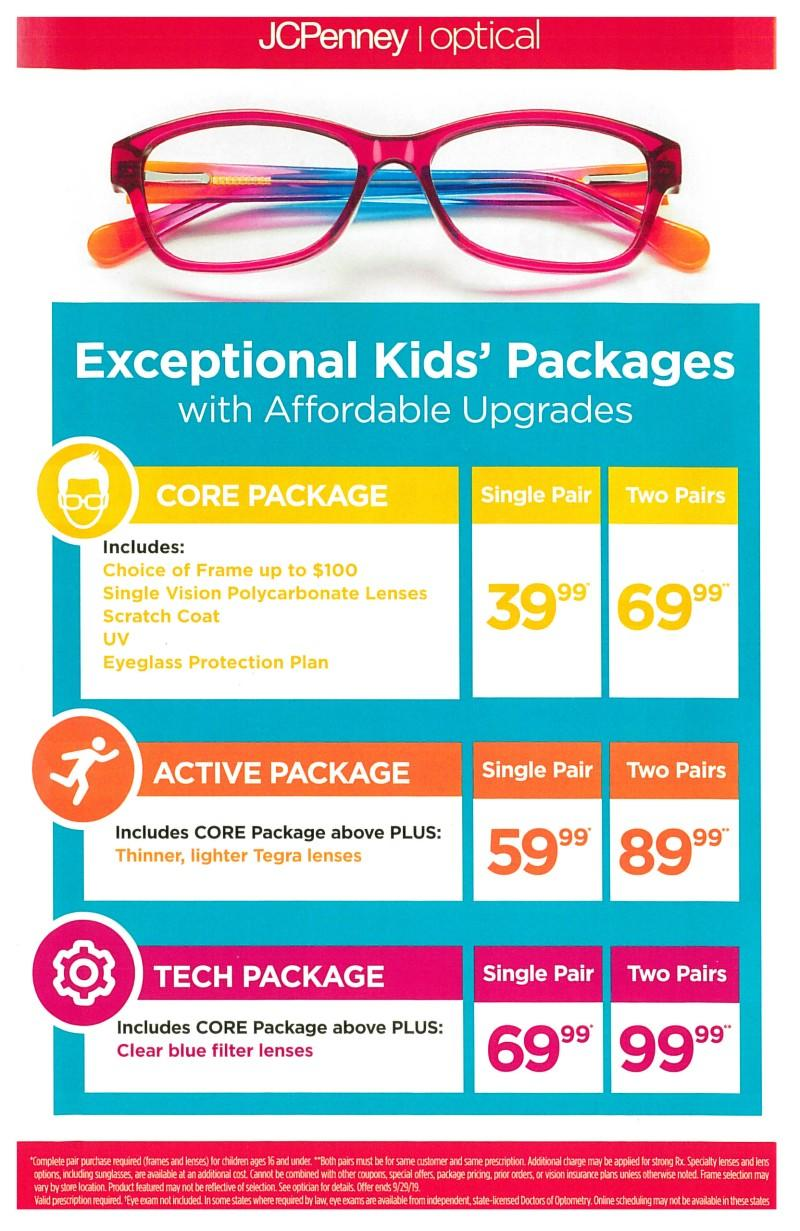 JCPenney Optical Kids Packages! from JCPenney Optical