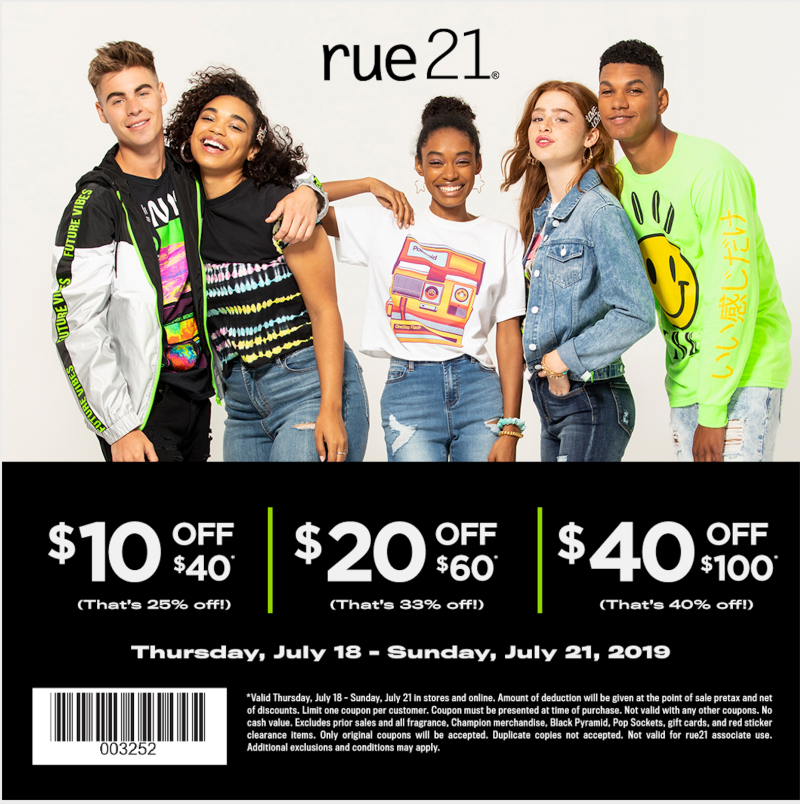 Spend more, save more! from rue21
