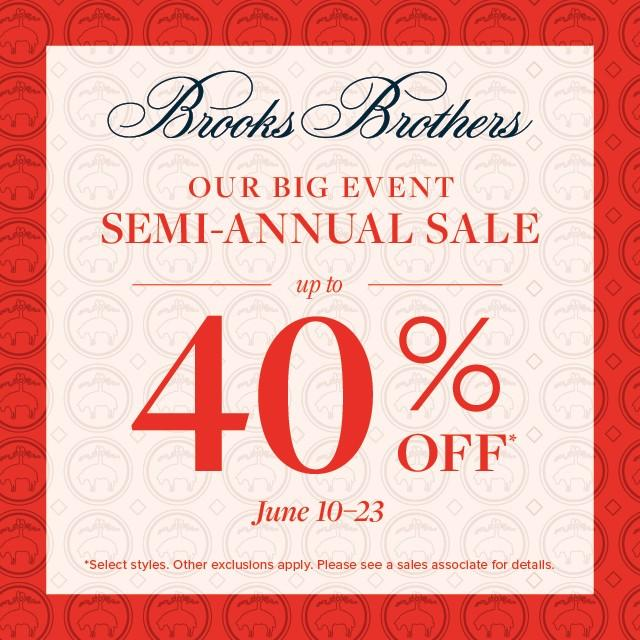 Up to 40% Off from Brooks Brothers