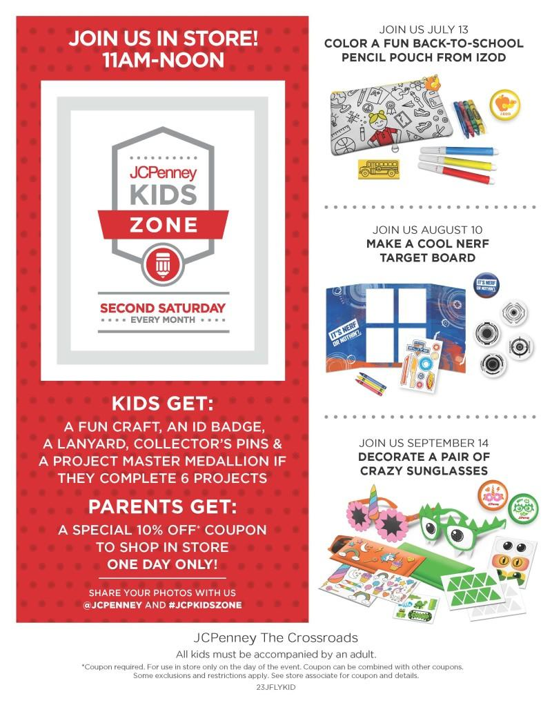 jcpenney kids zone event