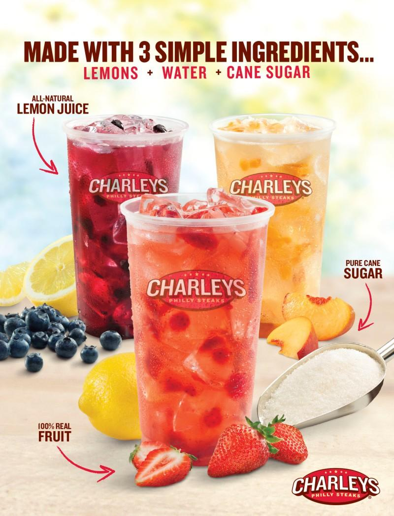 Fruit Lemonade at Charley's! from Charleys Philly Steaks