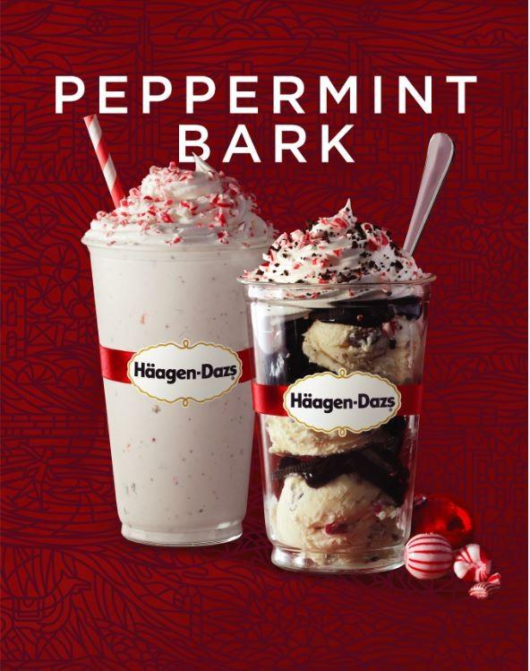 Peppermint Bark is back! from Häagen-Dazs