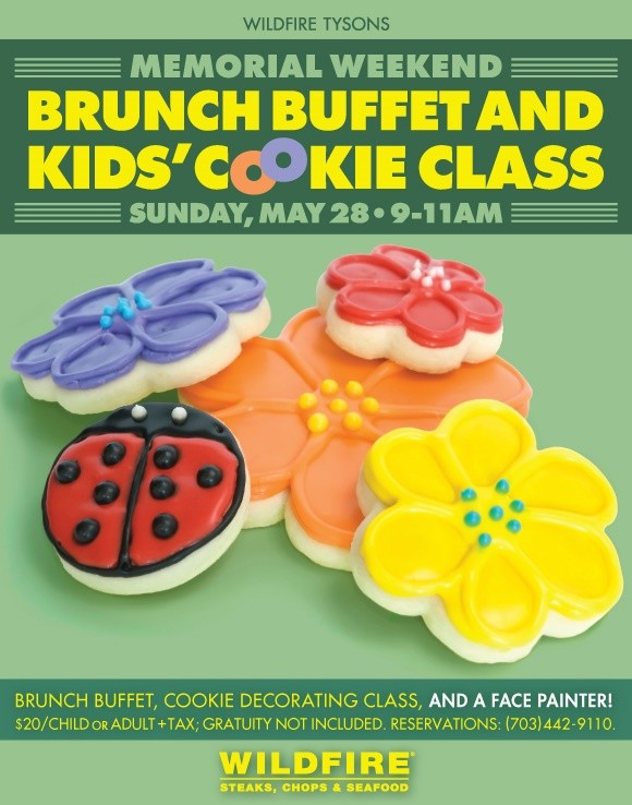 Wildfire holds Kids' Memorial Day Weekend Brunch & Cookie Class