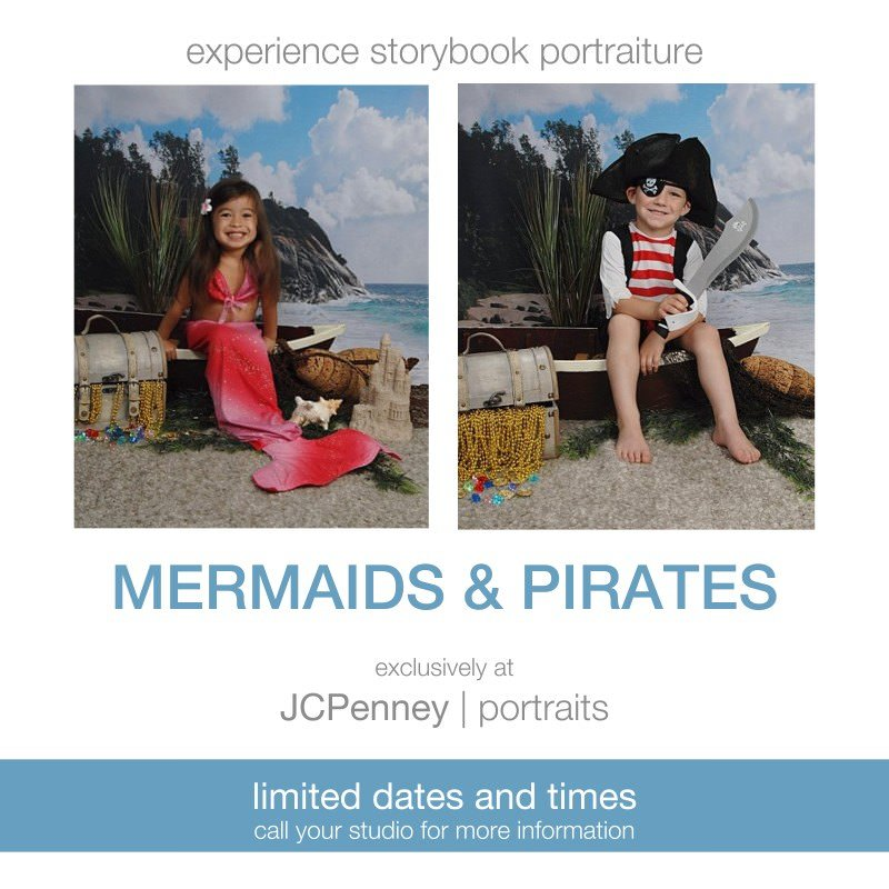 Pirate's & Mermaids at JCPENNEY PROTRAITS